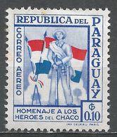 Paraguay 1957. Scott #C233 (M) Soldier And Flags - Paraguay