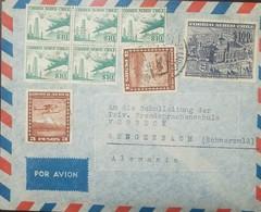 O) 1936 CHILE, OIL DERRICKS AND DOUGLAS DC 6 -SCOTT AP57, AIRPLANE 3 PESOS BROWN, UNIVERSITY OF VALPARAISO- ARCHITECTURE - Chile