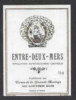 Etiquette De Vin Bordeaux Entre Deux Mers - Caves Grande Boulaye à Saint Pierre Eglise (33) - Thème Sirène Fruits De Mer - Bordeaux