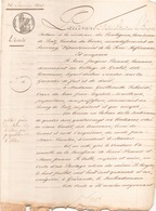 ACTE NOTARIE DU 26 JANVIER 1843 VENTE D UN TERRAIN DE LABOUR A BATZ - Manuscripts