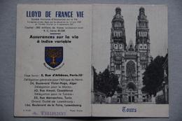 Calendrier 1956, Lloyd, Tours (Indre-et-Loire) - Calendars