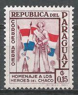 Paraguay 1957. Scott #C234 (M) Soldier And Flags - Paraguay