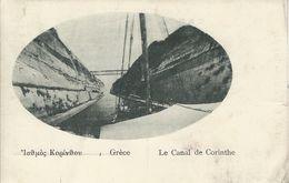 Le Canal De Corinthe. Greece. Sent To Denmark 1922.     S-3569 - Greece
