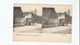 GUERRE 1914 EN ALSACE CANON DE 155 M/M (CARTE STEREOSCOPIQUE AVEC MILITAIRES) - Weltkrieg 1914-18