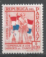 Paraguay 1957. Scott #C235 (M) Soldier And Flags - Paraguay