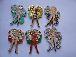 6 Pin S Pin Up Folies Bergeres Different Tbq - Pin-ups