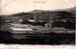 Senones Les Casernes Du 1 Er Chasseurs à Pied - Au-dessus La Petite Eglise De Saint-Maurice - Senones
