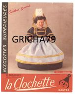 BUVARD  BISCOTTES LA CLOCHETTE   NANTES - Zwieback