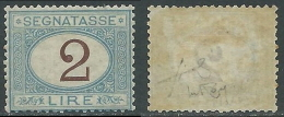1870-74 REGNO SEGNATASSE 2 LIRE MH * - E130 - Postage Due