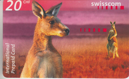 SWITZERLAND - PHONE CARD  ***   PRÉPAID CARD - KANGOUROU  *** - Ohne Zuordnung