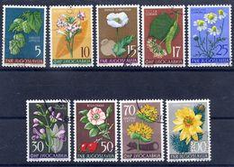 YUGOSLAVIA 1955 Flowers I, Used.  Michel 765-73 - 1945-1992 Socialist Federal Republic Of Yugoslavia