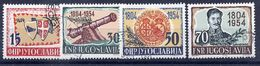 YUGOSLAVIA 1954 Serbian Rising Anniversary, Used.  Michel 751-54 - 1945-1992 Socialist Federal Republic Of Yugoslavia