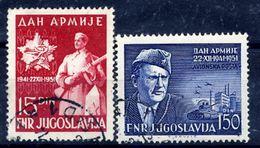 YUGOSLAVIA 1951 Army Day, Used.  Michel 675-76 - 1945-1992 Socialist Federal Republic Of Yugoslavia