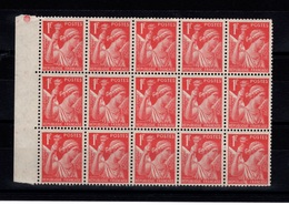 YV 433 En Bloc De 15 N** Cote 10,50 Eur - 1939-44 Iris