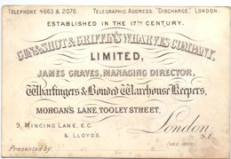 Visitekaartje - Carte Visite - Gun & Shot & Griffin's Wharves Company - London - Visiting Cards