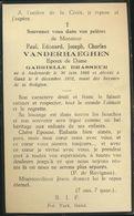 IMAGE MORTUAIRE * PAUL VANDERHAEGHEN * ° AUDENARDE 1866 ET + GAND 1932 * OUDENAARDE * DOODSPRENTJE - Obituary Notices