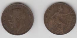 ANGLETERRE - HALF  PENNY 1916 - C. 1/2 Penny