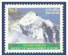 PAKISTAN 2003 MNH - ASCENT OF NANGAPARBAT GOLDEN JUBILEE MOUNTAINS, 1v - Pakistan