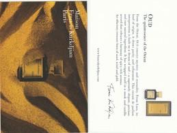 OUD  Maison Francis Kurkdjian  Format Carte Postale R/V - Cartes Parfumées
