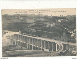 22 SAINT BRIEUX INTERSECTION DES LIGNES DEPARTEMENTALE  CPA BON ETAT - Saint-Brieuc