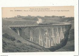 22 SAINT BRIEUX PONT DE TOUPIN ET VUE GENERALE DES TRAVEAUX D ART DE LA LIGNES DEPARTEMENTAL  CPA BON ETAT - Saint-Brieuc