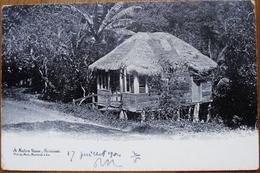 CARTE POSTALE ANCIENNE A NATIVE HOUSE, TRINIDAD - 17 JUILLET 1904 - Postcards