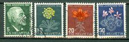 Suisse 1947 Yv 445/48 (o),  Mi 488/91 (o) - Suisse