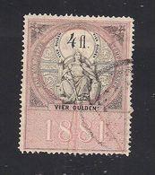 1 Austria Revenue 4 Fl. 1881 Mit WASSERZEICHEN - Steuermarken