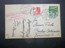 Danmark: 1928 Air PPC To Berlin-Schoneberg (#MY4) - 1913-47 (Christian X)