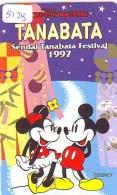 Télécarte Japon * 110-191151 * THE DISNEY STORE  (5128) TANABATA * MICKEY  & MINNIE * JAPAN Phonecard * TIRAGE 10.00 - Disney