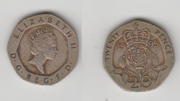 ANGLETERRE - 20 PENCE 1995 - 1971-… : Monnaies Décimales