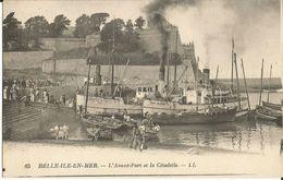 56-belle Ile En Mer-l Avant Port Et La Citadelle,animé,bateaux - Belle Ile En Mer