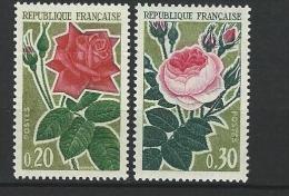 """FR YT 1356 & 1357 """" Roses """" 1962 Neuf** - France"""