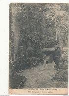 GUERRE DE 1914 L ARGONNE BOIS D AVOCOURT ABRI DE REPOS AVEC JARDINS ANGLAIS CPA BON ETAT - Guerre 1914-18