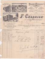 ANNEE 1890 / AVIGNON / CHABRIER / MAISON SPECIALE D HUILES ET SAVONS / TOILES ET CALICOTS / - Food