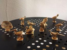 10 Fèves Dorées D'oiseaux - Animals