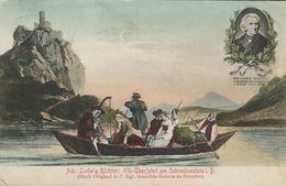 Painting - Ludwig Richter: Elb-Überfahrt Am Schrechenstein. Used.   Sent To Denmark  S-3984 - Paintings