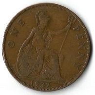 Pièce De Monnaie 1 Penny 1927 - 1902-1971 : Post-Victorian Coins