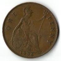 Pièce De Monnaie 1 Penny 1936 - 1902-1971 : Post-Victorian Coins