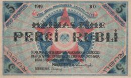 (B0299) LATVIA, 1919. 5 Rubli. P-R3. UNC - Latvia