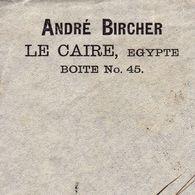 Lettre Egypte Le Caire Egypt 1904 André Bircher Aarau Suisse - Egypte