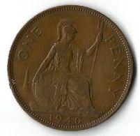 Pièce De Monnaie 1 Penny 1940 - 1902-1971 : Post-Victorian Coins