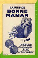 BUVARD  : Laine Bonne Maman  La Douceur Le Chic Mamie Enfant Chat (rare Noir Et Noir ) - Textile & Clothing