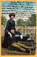 Bitte Einsteigen - Femme - Garçon - Brouette - 1905 - CEF Serie - Fantaisies