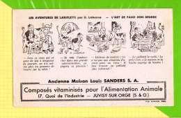 Buvard & Blotting Paper : Alimentation Animale SANDERS Les Aventures De LARIFLETTE  L'art De Faire Son Beurre - Farm