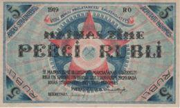 (B0551) LATVIA, 1919. 5 Rubli. P-R3. AUNC (AU) - Latvia