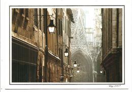 ROUEN - Eglise St-Maclou, Vue De La Rue St-Romain - (Philippe Derouet - Photopostal) - Rouen