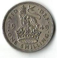 Pièce De Monnaie 1 Shilling 1949 - 1902-1971 : Post-Victorian Coins