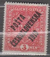 Czechoslovakia 1919 Definitive Overprint 25 X 30 MH * 19,95 - Ongebruikt