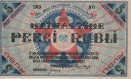 (B0561) LATVIA, 1919. 5 Rubli. P-R3. AUNC (AU) - Lettonie